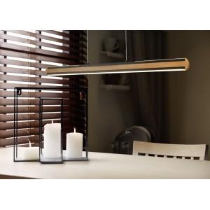DEAC. Φωτιστικό ράγα  απο ξύλο και μέταλλο led