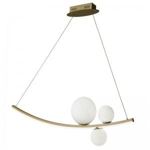 SO.ALTALENA/B.CO φωτιστικό κρεμαστό LED.